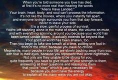 When you're told someone you love has died......