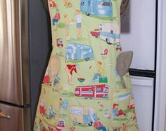 Retro Airstream Travel Trailer Apron