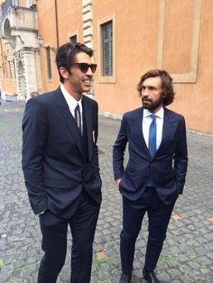 Gigi Buffon and Andrea Pirlo | Sportfanzine #juventus #legends #buffon #pirlo…