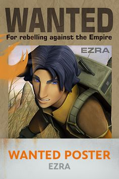 Star Wars Rebels: Ezra Wanted Poster