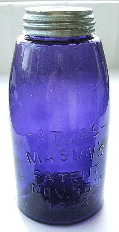 *PURPLE ~ 1/2 Gal Purple Mason Jar--it says this is purple but I see blue.