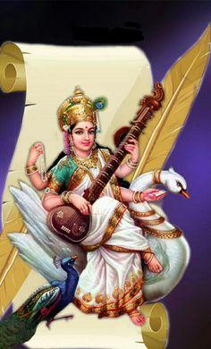 Sri Saradaambha Namosuthee.Sri Panchami Subhakankashalu Ganesha Drawing, Ganesha Painting, Ganesha Art, Saraswati Mata, Saraswati Goddess, Durga Images, Lakshmi Images, Krishna Birth, Lord Durga
