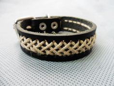 Bangle buckle bracelet leather bracelet by jewelrybraceletcuff, $7.00