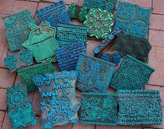 Amazing textile stamps