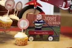 Growing Up Gardner: Red Wagon 1st Birthday Party