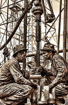 1930s Texas Oil Roughnecks Digital Art by Daniel Hagerman