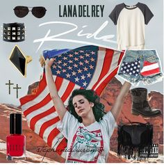 Lana Del Rey style inspiration by stephanielaurenxo on Polyvore #LDR #fashion