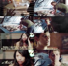 "#TVD 6x04 ""Black Hole Sun"" - Stefan and Ivy"