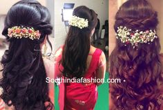 Clip Hairstyles, Party Hairstyles, Indian Hairstyles, Braided Hairstyles, Wedding Hairstyles, Flower Hair Clips, Flowers In Hair, Bridal Hairstyle Indian Wedding, Wedding Makeover