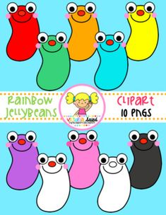 My Rainbow Jellybeans Clipart Free set has 10 pngs & all blacklines are included!!! I've created these Rainbow Jellybeans in a variety of bright rainbow colors!This set includes the following colors:red, orange, yellow, green, blue, purple, pink, black, whiteMy rainbow jellybeans are perfect for creating product covers, printables, games, worksheets, units, games, cards, centers, stations, bookmarks...the possibilities are endless!***The font used in our preview is a CC Font.***Each of my...