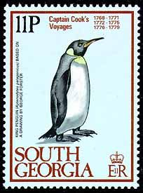 Penguins on stamps -- South Georgia & South Sandwich Islands (1)