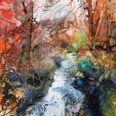 Woodland Stream by Ann Blockley