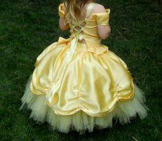 Girls Yellow Princess Tutu Fancy Dress, Custom made in sizes 6 7 and 8 Girls Dress Up, Tutus For Girls, Little Girl Dresses, Costumes Avec Tutu, Girl Costumes, Robes Disney, Disney Dresses, Flower Girl Tutu, Flower Girl Dresses