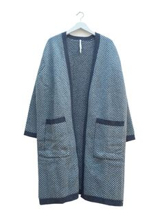 Lambswool oversized cardigan - mint/grey - Cardigan F - studio JUX - studio JUX - Eco  - Fair - design - dutch - amsterdam - vegan - minimal - duurzaam - sustainable - fashion -  fairtrade - eerlijke kleding - fairtrade kleidung- kleding - woman - vrouw - men - man - Nepal - fair-trade product - fair-trade product - Trousers - dress - skirt - top - jurk - fair trade mode - t-shirt - shirt