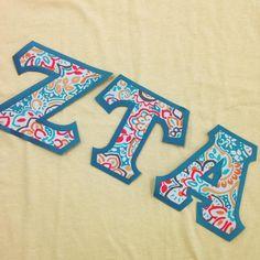 #ZetaTauAlpha #ZTA #sorority #fraternity #newletters #customgreek #SomethingGreek | Create your own in our letter design center!