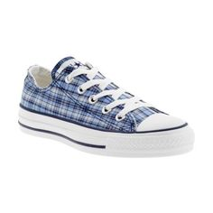 Converse Chuck Taylor All-Star Specialty Ox - blue plaid Converse Chuck Taylor All Star, Chuck Taylor Sneakers, Blue Plaid, Footwear, Purses, Shoe Bag, My Style, Womens Fashion, How To Wear
