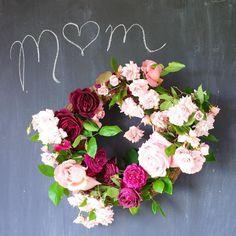 DIY Garden Rose Wreath by Tulipina
