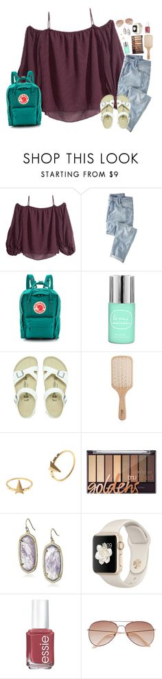 """""""watching pioneer woman 😂✌🏻️"""" by simply-positive-prep ❤ liked on Polyvore featuring Wrap, Fjällräven, Birkenstock, Philip Kingsley, Maria Black, Kendra Scott, Essie and H&M"""