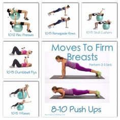 Surgery, push-up bras and extra padding aren't your only options to lift a pair of sagging breasts. Developing the muscles underneath will work too! (Loose Weight While Breastfeeding) Fit Girl Motivation, Fitness Motivation, Forma Fitness, Chest Muscles, Chest Workouts, Chest Exercises, Lifting Workouts, Ab Workouts, Workout Routines