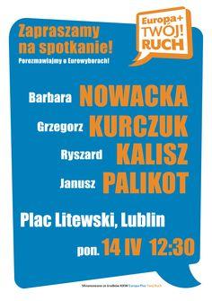 Plakat Nowacka, Kurczuk, Kalisz, Palikot