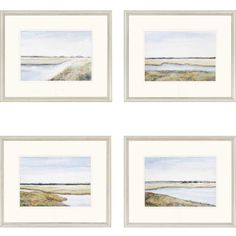 Darby Home Co® Marshes Giclee 4 Piece Framed Painting Print Set