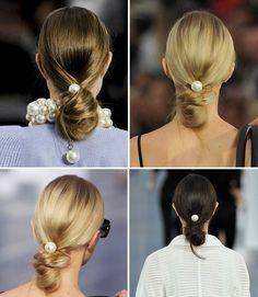 Chanel 2013 S/S runway hair Big pearl