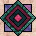 Stained Glass Stacked Creates Quilt Block Pattern