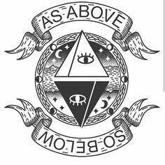 "abbylupine: ""As above, so below "" Wiccan Art, Wiccan Symbols, Occult Art, Ancient Symbols, Mayan Symbols, Viking Symbols, Egyptian Symbols, Viking Runes, Glyphs Symbols"