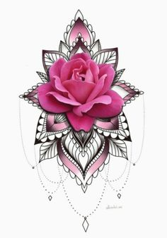 Discover recipes, home ideas, style inspiration and other ideas to try. Rose Tattoos, Leg Tattoos, Flower Tattoos, Body Art Tattoos, Sleeve Tattoos, Floral Tattoo Design, Mandala Tattoo Design, Flower Tattoo Designs, Cover Up Tattoos