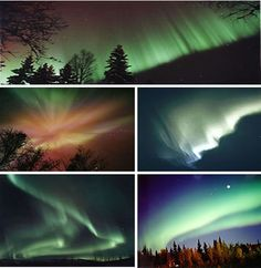 Northern Lights AKA Aurora that appear on clear, cold nights in the arctic sky