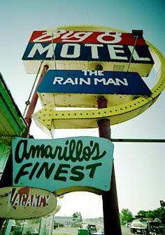 The Big 8 Motel, Route 66 - El Reno, Oklahoma ~ despite the sign not in Amarillo