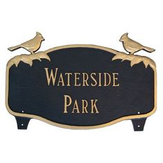 Montague Metal Products Cardinal Address Sign Finish: White / Gold, Mounting: Lawn