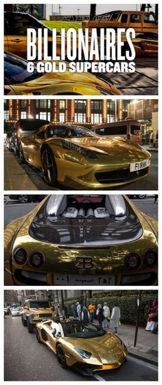 Billionaires 6 Gold Supercars that will blow your mind. This $2m fleet have recently taken over London.