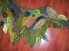 crochet freeform shawl by janrocrochet, via Flickr