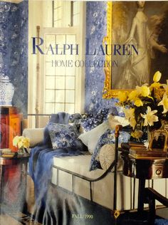 Ralph Lauren Home Archives, Unknown collection, Bedroom detail, Fall, 1990