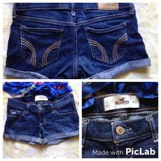 Hollister Jean shorts size 25 Like new, bought off Posh but never wore, no flaws. Hollister Shorts Jean Shorts