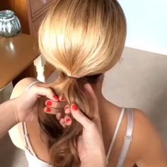 Twist and Slide Knotted Bun. Very clever and quick! Hair by @sweethearts_hair_design #hotonbeauty hotonbeauty