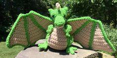 Karlene's Dragon Amigurumi Crochet Pattern by AmigurumiEmpire Easy Crochet Patterns, Amigurumi Patterns, Crochet Feather, Local Craft Fairs, Crochet Dragon, Dragon Pattern, Back Stitch, Pattern Names, Crochet Animals