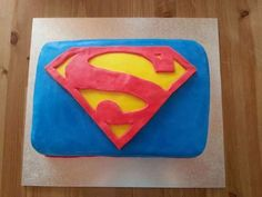 Superman Cake- first fondant cake
