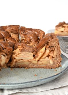 Speculaas appeltaart - Laura's Bakery No Bake Cookies, No Bake Cake, Sweets Cake, Cupcake Cakes, Baking Recipes, Cake Recipes, British Baking, Food Cakes, No Bake Desserts