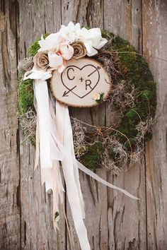 Adorable Wedding Wreath  www.MadamPaloozaEmporium.com www.facebook.com/MadamPalooza