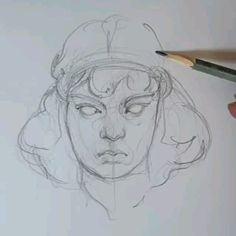 # Time lapse video how to draw process building learning graphics artist sketch illustration art drawing portrait # # # mood gerl # # # # Art And Illustration, Unique Drawings, Art Drawings Sketches, Animal Drawings, Character Sketches, Character Art, Art Du Croquis, Academic Drawing, L'art Du Portrait