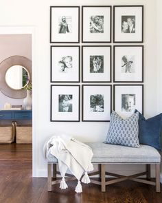 Ways To Use That Room Below Your Stairs Masculine, Comfortable, And Elegant: A California Home By Lauren Evans Interiors Rue Home Living Room, Living Room Decor, Bench In Living Room, Living Room Gallery Wall, Ikea Gallery Wall, Living Room Furniture Layout, Art Gallery, Foyer Decorating, Deco Design