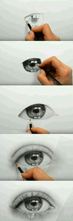 20 ideas drawing eyes crying pencil art augen-make-up Pencil Art Drawings, Realistic Drawings, Art Drawings Sketches, Cool Drawings, Realistic Eye, Eye Drawing Tutorials, Art Tutorials, Stylo Art, Eye Art