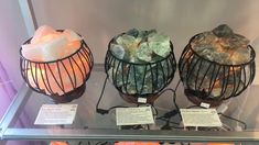Crystal Basket Lamps...