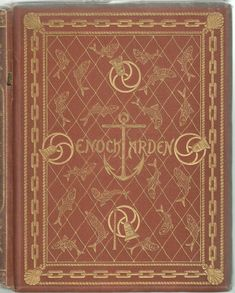 """Binding by Arthur Hughes for Alfred Tennyson's """"Enoch Arden"""" (1866), front view"""