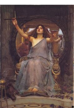"""""""Bring more coffee"""" John William Waterhouse: Circe offering the Cup 1891 Oil on canvas. Oldham Art Gallery, Oldham, England Actual Size (W x H): x = x John William Waterhouse, John William Godward, Oil Painting App, Rose Croix, Renaissance Kunst, Illustration Art, Illustrations, Classic Paintings, Pre Raphaelite"""