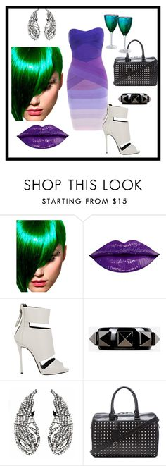 """Sin título #249"" by anyhichins ❤ liked on Polyvore featuring Artic Fox, Giuseppe Zanotti, Valentino, Yves Saint Laurent and Artland"