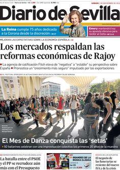 Los Titulares y Portadas de Noticias Destacadas Españolas del 2 de Noviembre de 2013 del Diario de Sevilla ¿Que le pareció esta Portada de este Diario Español?