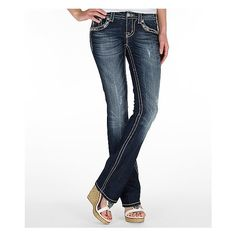 Miss Me Slim Boot Stretch Jean ($54) ❤ liked on Polyvore featuring jeans, miss me, blue, vintage jeans, stretch jeans, low rise bootcut jeans, miss me bootcut jeans and low rise slim bootcut jeans